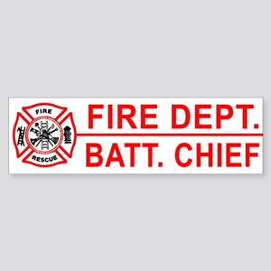 Fire Battalion Chief Bumper Sticker